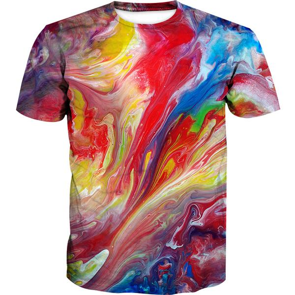 Colorful Paint T-Shirt - Colorful Clothing