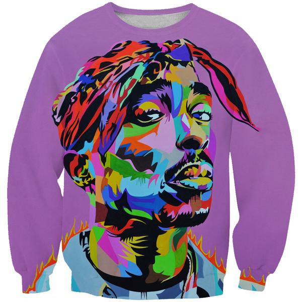 Colorful Tupac Sweatshirt - 2Pac Hoodies and Clothes
