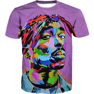 Colorful Tupac T-Shirt - 2Pac Hoodies and Clothes - Hoodie Now