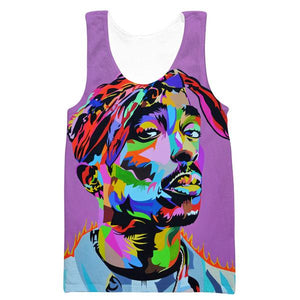 Colorful Tupac Tank Top - 2Pac Hoodies and Clothes