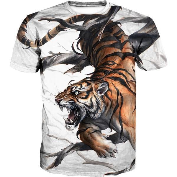 Cool Tiger T-Shirt - Printed Tiger Clothes - Hoodie Now