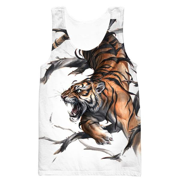 Cool Tiger Tank Top - Printed Tiger Clothes - Hoodie Now