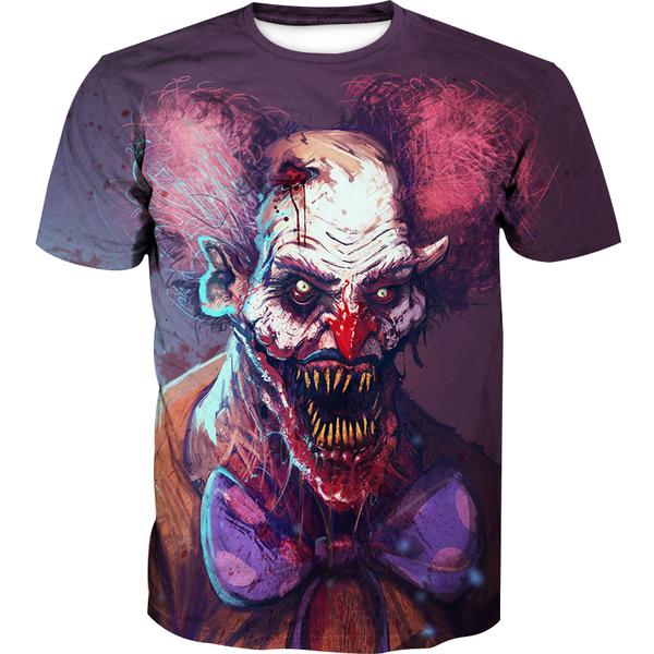 Creepy Clown T-Shirt - Scary Clothes - Hoodie Now