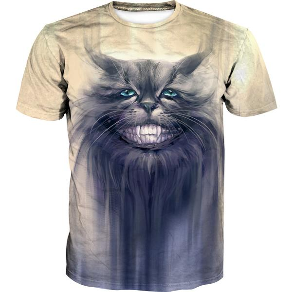 Creepy Grey Cat T-Shirt - Cat Clothing - Hoodie Now