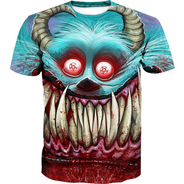 Creepy Monster Inc Style T-Shirt - Scary Monster Clothing