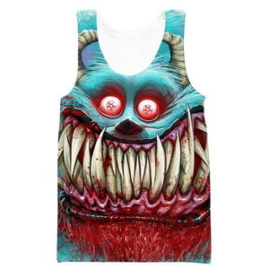 Creepy Monster Inc Style Tank Top - Scary Monster Clothing