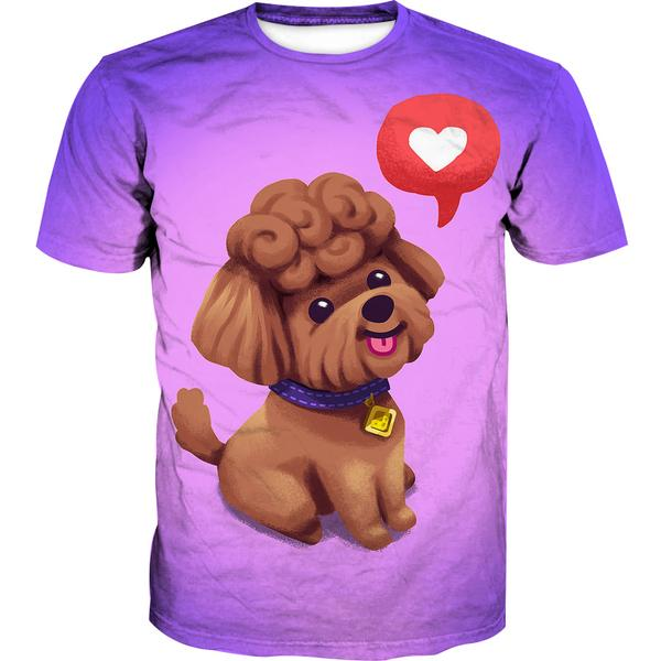 Cute Poodle T-Shirt - Cute Poodle Dog Clothing - Hoodie Now