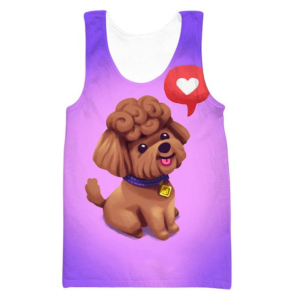 Cute Poodle Tank Top - Cute Poodle Dog Clothing - Hoodie Now