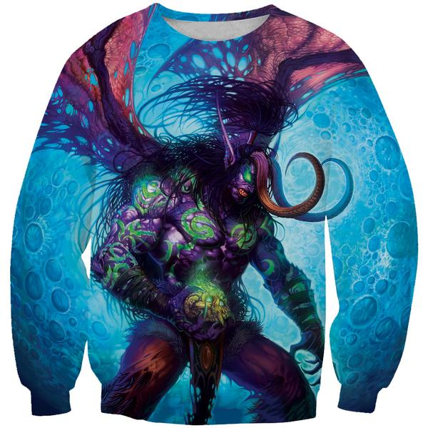 Demon Illidan Sweatshirt - World of Warcraft Clothing - Hoodie Now