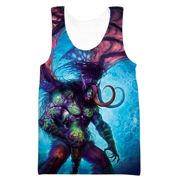 Demon Illidan Tank Top - World of Warcraft Clothing - Hoodie Now