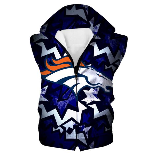 Denver Broncos Hooded Tank - Football Broncos Streetwear Clothes