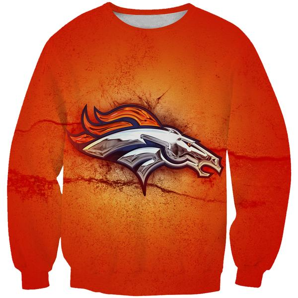 Denver Broncos Sweatshirt - Football Logo Broncos Clothing
