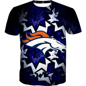 Denver Broncos T-Shirt - Football Broncos Streetwear Clothes