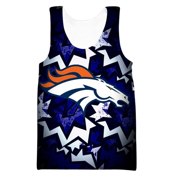 Denver Broncos Tank Top - Football Broncos Streetwear Clothes