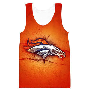 Denver Broncos Tank Top - Football Logo Broncos Clothing