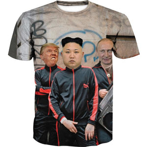 Donald Trump, Kim Jung Un and Putin T-Shirt - Funny Printed Clothes