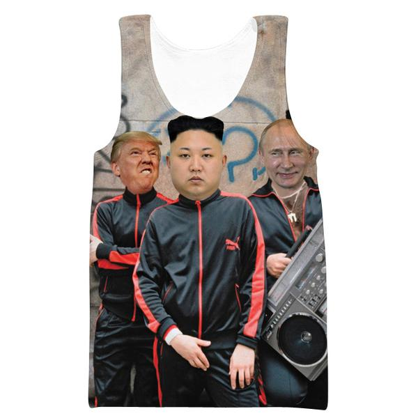 Donald Trump, Kim Jung Un and Putin Tank Top - Funny Printed Clothes - Hoodie Now