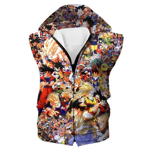 Dragon Ball All Characters Hooded Tank - DBZ Clothing and Hoodies - Hoodie Now