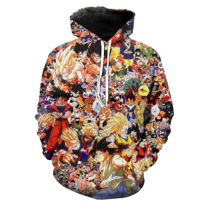 Dragon Ball All Characters Hoodie - DBZ Clothing and Hoodies