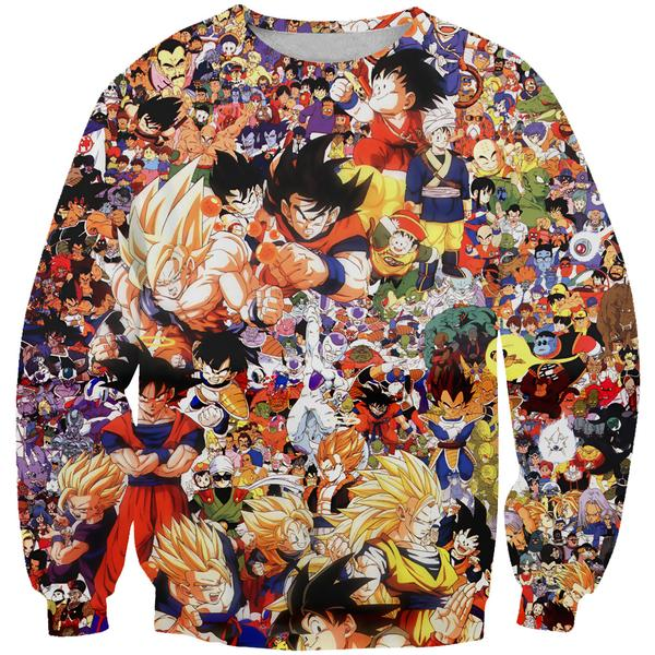 Dragon Ball All Characters Sweatshirt - DBZ Clothing and Sweaters