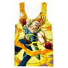 Dragon Ball Gym Shirts - Super Saiyan Bardock Tank Top