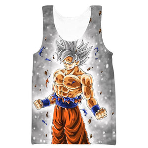 Dragon Ball Gym Shirts - Ultra Instinct Goku Tank Top Clothing