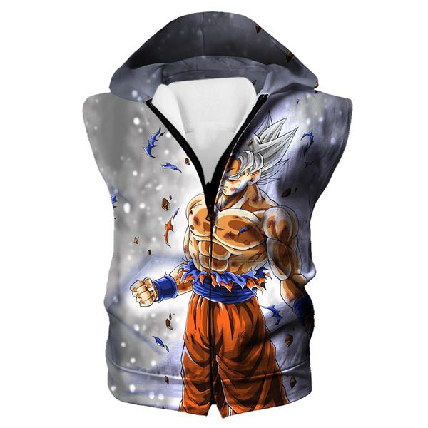 Dragon Ball Hoodie - Ultra Instinct Goku Hooded Tank Clothing - Hoodie Now