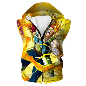 Dragon Ball Hoodies - Super Saiyan Bardock Hooded Tank