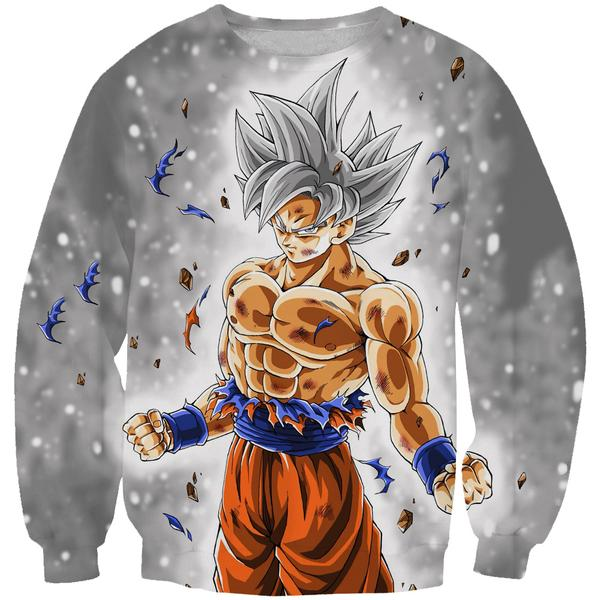 Dragon Ball Sweaters - Ultra Instinct Goku Sweatshirt Clothing - Hoodie Now