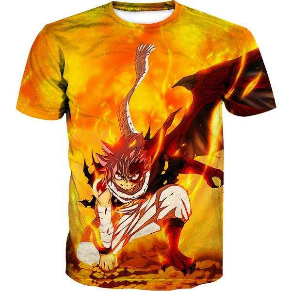 Dragon Natsu T-Shirt - Fairy Tail Clothes - Hoodie Now