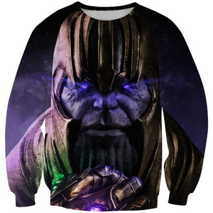 Epic Gauntlet Thanos Sweatshirt - Villain Themed Clothing - Hoodie Now