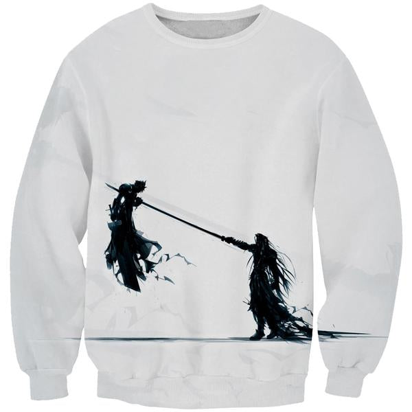 Final Fantasy 7 Sweatshirt - Sephiroth vs Cloud Sweater - FF7 Clothes