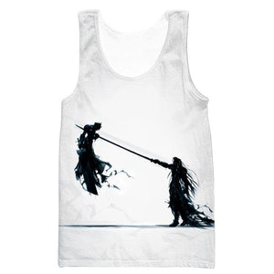 Final Fantasy 7 Tank Top - Sephiroth vs Cloud Gym Shirts - FF7 Clothes