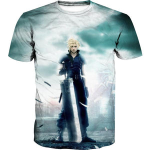 Final Fantasy Cloud T-Shirt - Final Fantasy Clothing - Gaming Clothes - Hoodie Now