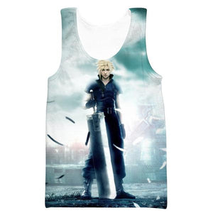 Final Fantasy Cloud Tank Top - Final Fantasy Clothing - Gaming Clothes - Hoodie Now