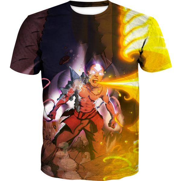 Firebending Aang T-Shirt - Avatar the Last Airbender Avatar State Clothes - Hoodie Now