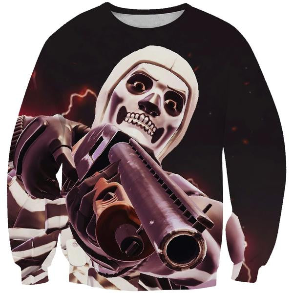 Fortnite Battle Royale Skull Trooper Sweatshirt - Fortnite Sweaters