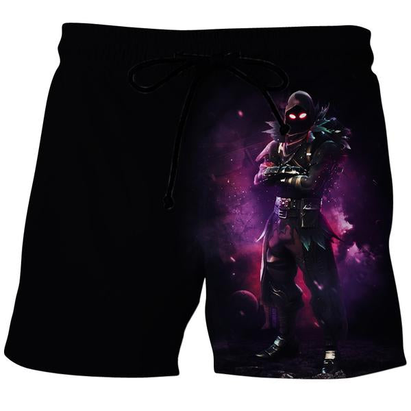 Fortnite Clothes - Fortnite Raven Board Shorts - Gaming Clothing