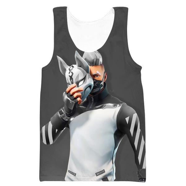 Fortnite Cosplay Off White Drift Tank Top - Fortnite Clothes