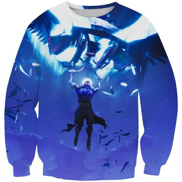 Fortnite Landing Raven Sweatshirt - Fortnite Clothing