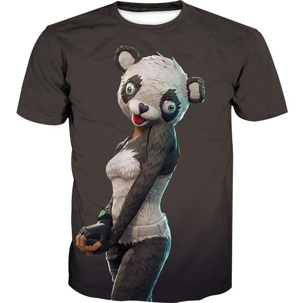 Fortnite Panda Skin T-Shirt -Fortnite Battle Royale Clothes
