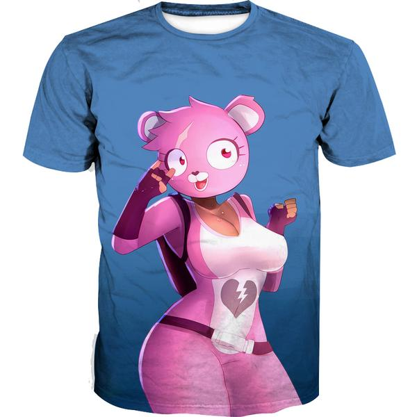Fortnite Sexy Pink Bear T-Shirt - Fortnite Clothing and Shirts