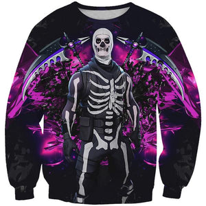 Fortnite Skull Trooper Skin Sweatshirt - Fortnite Clothes