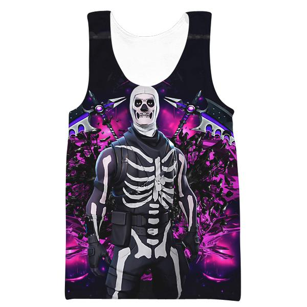 Fortnite Skull Trooper Skin Tank Top - Fortnite Clothes