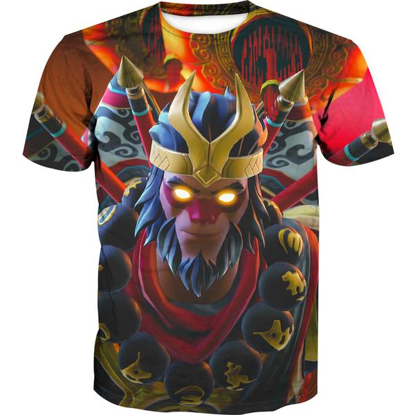 Fortnite Wukong T-Shirt -Fortnite Skins Clothing