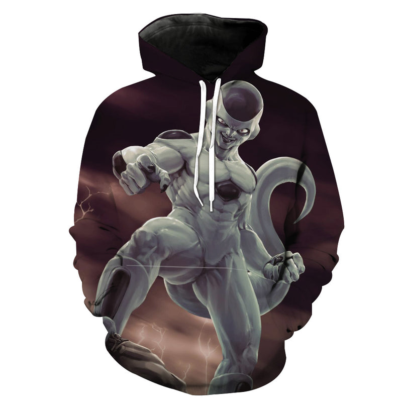 Dragon Ball Freeza Hoodie - Freeza Realstic Style Hoodie - Hoodie Now