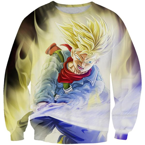 Super Saiyan Trunks Sword Sweatshirt - Dragon Ball Super Trunks Clothing