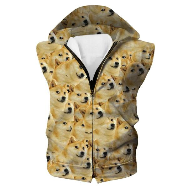 Funny Corgi Meme Hooded Tank - Corgi Dog Clothing
