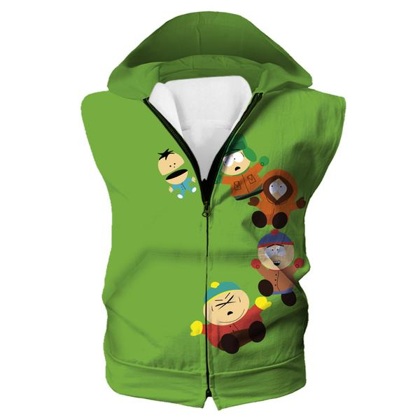 Funny South Park Hoodie - Cartman, Stan and Kyle Hooded Tank