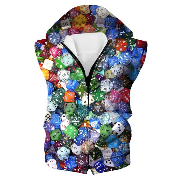 Gaming Dice Hooded Tank - Table Top Dice Clothes